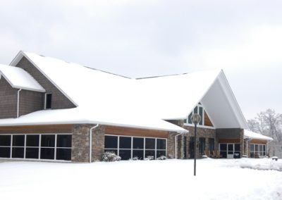 building covered with snow