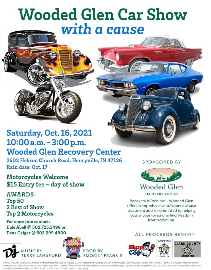 UWooded Glen Car Show With a Cause Event - October 16, 2021
